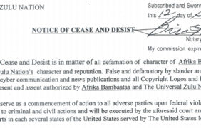 NOTICE OF CEASE AND DESIST